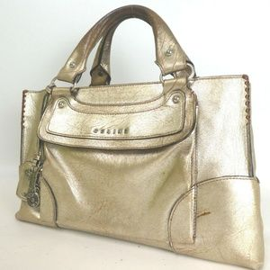 Authentic CELINE Leather rare used Boogie Handbag